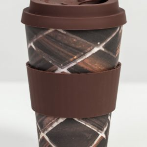 Care Cup Brown Mosaik in bamboo